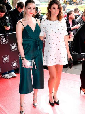 Actresses Anna Passey and Sophie Porley attend the TRIC Awards 2017 on March 14, 2017 in London, United Kingdom.  (Photo by Gareth Cattermole/Getty Images)