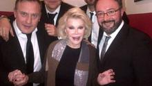 The Late Late band pictured with Joan Rivers (Photo: Twitter/Paddy Cullivan)