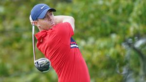 GAME FACE ON: Rory McIlroy practises before the US Open Championship golf tournament at the Winged Foot Golf Club in Mamaroneck, NY. AP Photo/John Minchillo