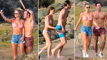 Vogue Williams and Spencer Matthews are holidaying with Pippa Middleton and her family in St Barth's. Pictures: IMP features/Eliotpress/MEGA