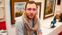 Jay Davis, who works at Sol Art Gallery in Dublin city centre, is struggling to find a place to rent. Photo: Arthur Carron
