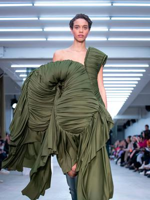 Stylish and sustainable: Richard Malone's creativity goes on display on the catwalk during London Style Week. Photos: Aaron Chown/PA Wire