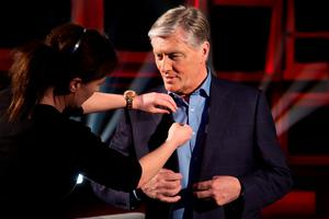 Pat Kenny filming for Pat Kenny in the Round