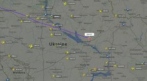 A map of the region where flight MH17 crashed in Ukraine