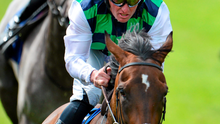 Diamondsandrubies, with Seamie Heffernan up, on their way to winning the Sea The Stars Pretty Polly Stakes at the Curragh