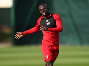 Liverpool's Sadio Mane during training at Melwood, Liverpool. Photo: Reuters/Lee Smith