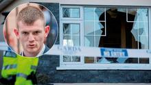 Thug Donal O'Hara, inset the damage to the Corcoran home