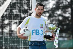 Mark McHugh at the launch of the Kilmacud Crokes FBD 7s