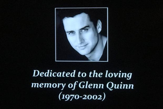 The tribute to Glenn Quinn