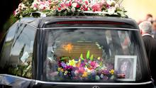 The hearse takes Lorna Carty for burial after her funeral mass in Robinstown Co. Meath. Photo: Gerry Mooney