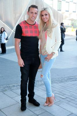 Wesley Quirke and Rosanna Davison at the opening night of Let It Be at the Bord Gais Energy Theatre in Dublin. Picture:Arthur Carron