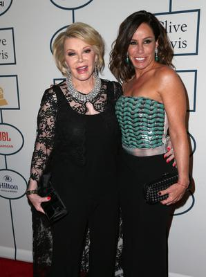 Joan Rivers and Melissa Rivers attend the 56th annual GRAMMY Awards