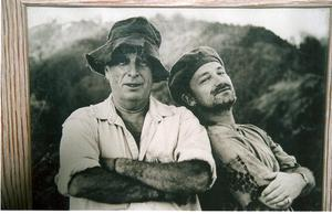 Visionary: Bono, right, with Chris Blackwell, founder of Island Records, the label that launched U2 in the 1970s