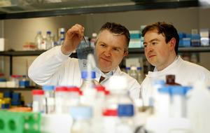 Maynooth immunology expert Paul Moynagh, left