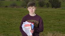 2020 Leaving cert student Joseph Murray, from Knock, Co. Mayo. Pic: Michael McLaughlin