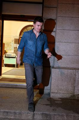 Brian O'Driscoll leaving the National Maternity Hospital after the birth of his and Amy Huberman's second child yesterday. Picture:Arthur Carron