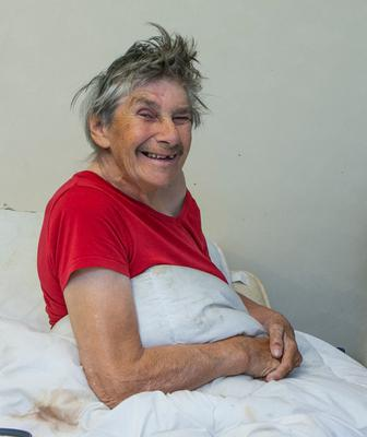 Jenny Powell (84) was beaten by an armed gang in her home