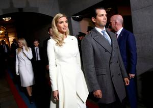 Ivanka Trump and Donald Trump, Jr. arrive on the West Front of the U.S. Capitol in Washington, D.C., U.S., January 20, 2017. REUTERS/Win McNamee/Pool