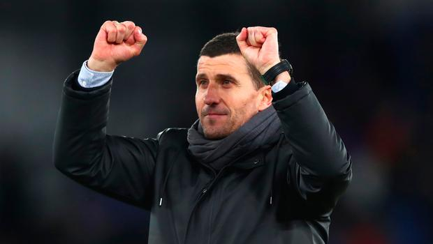 Watford manager Javi Gracia celebrates the win. Photo: Getty Images