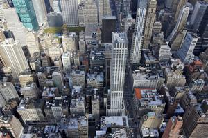 The view down into Midtown Manhattan. Photo: Getty Images.
