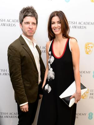 Noel Gallagher and his wife Sara McDonald attend the after show party for the EE British Academy Film Awards at the Grosvenor House Hotel in central London. PRESS ASSOCIATION Photo. Picture date: Sunday February 8, 2015. See PA story SHOWBIZ Bafta. Photo credit should read: Dominic Lipinski/PA Wire