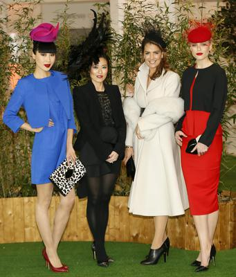 Yomiko Chen, Judges International Shoe designer Lucy Choi with designer Tara Jarmon and model Sarah Morrissey at the Hennessy Best Dressed Lady in association with Harvey Nichols