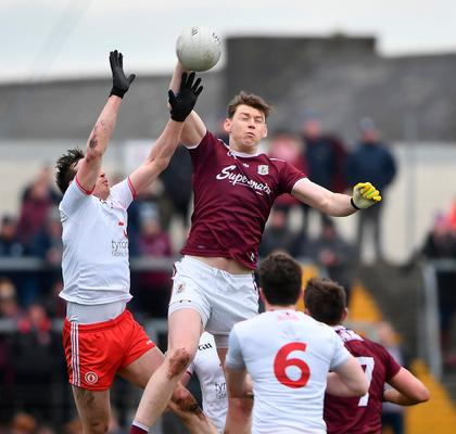 Tom Flynn of Galway in action against Colm Cavanagh of Tyrone during the Allianz Football League Division 1 clash at Tuam Stadium in Tuam, Galway.  Photo: David Fitzgerald/Sportsfile