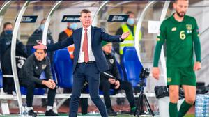 Ireland manager Stephen Kenny reacts