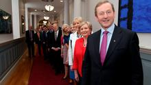 The Taoiseach with his new cabinet