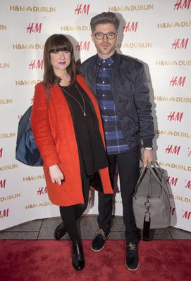 Darren Kennedy & Jennifer Maguire   at the opening night of H&M's flagship store in College Green,Dublin. Photo:  Gareth Chaney Collins