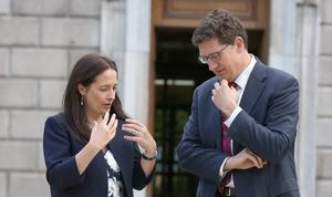 Green Party leader Eamon Ryan and TD Catherine Martin. Photo: Tom Burke