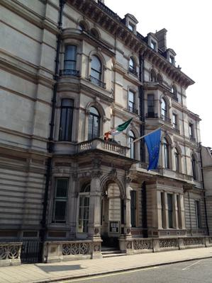 Through the roof: €2.16m was spent on London embassy