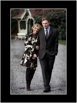 Neeson with his late wife, Natasha Richardson, who died in 2009