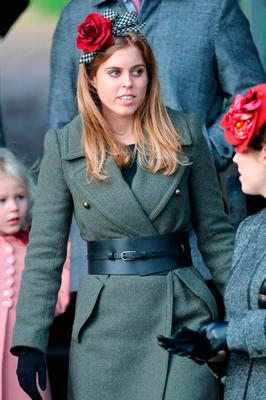 Princess Beatrice attends a Christmas Day church service at Sandringham on December 25, 2016 in King's Lynn, England.  (Photo by Chris Jackson/Getty Images)