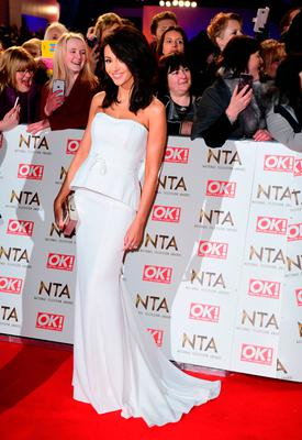 Michelle Keegan arriving at the National Television Awards 2017, held at The O2 Arena, London