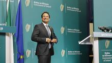 Message: Leo Varadkar quoted Cicero in his speech saying 'the safety of the people shall be the highest law'. Photo Leon Farrell/Photocall Ireland