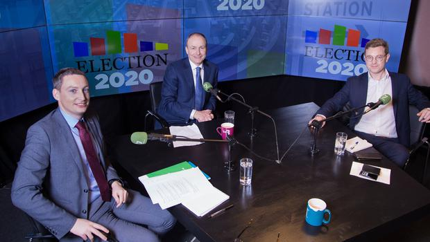Banking on change: Fianna Fáil leader Micheál Martin joins Irish Independent Group Head of News Kevin Doyle and Deputy Political Editor Philip Ryan for the 'Floating Voter' podcast. Photo: Owen Breslin