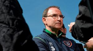 Republic of Ireland manager Martin O'Neill during a pitchside update