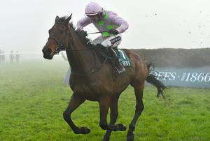 Djakadam and Ruby Walsh up on their way to victory in the Thyestes