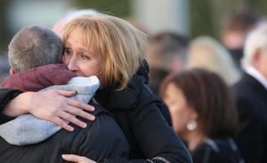 Ashling Midddleton's mother Sharon outside the church after the funeral mass  Picture: GERRY MOONEY