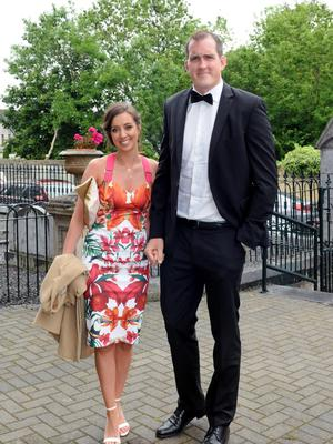 12/6/2015  Attending the Wedding of rish Rugby player Sean Cronin and Claire Mulcahy at St. Josephs Catholic Church, Castleconnell, Co. Limerick were Mary Scotta nd Leinster Rugby player Devin Toner. Pic: Gareth Williams / Press 22