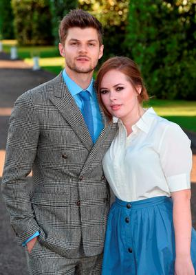 Jim Chapman and Tanya Burr attend the Vogue and Ralph Lauren Wimbledon party at The Orangery on June 22, 2015 in London, England.  (Photo by Stuart C. Wilson/Getty Images)