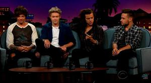 One Direction on Late Late Show with James Corden