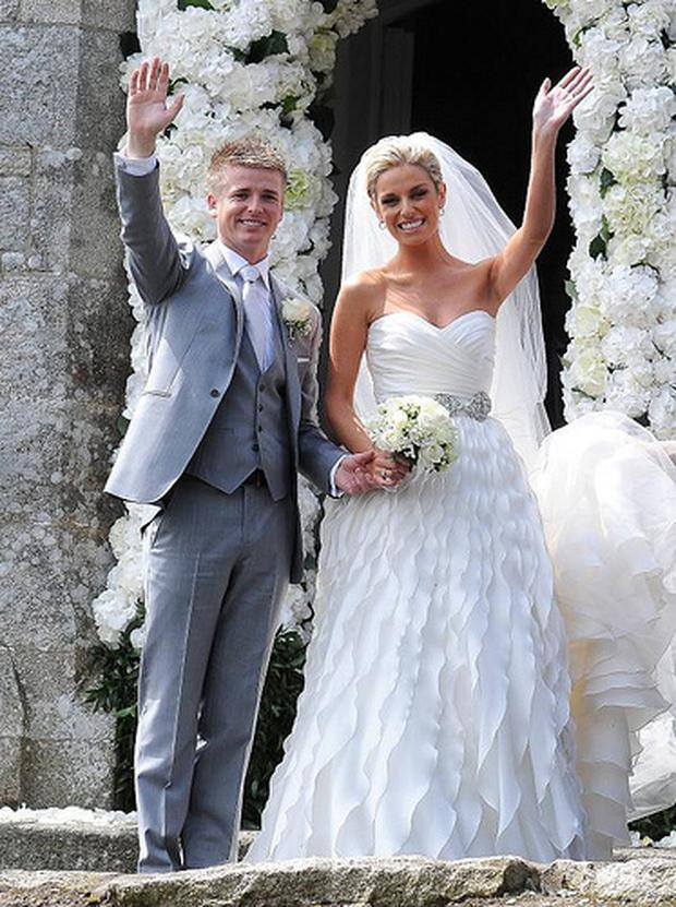 Brian Ormond, Pippa O'Connor on their wedding day in 2011
