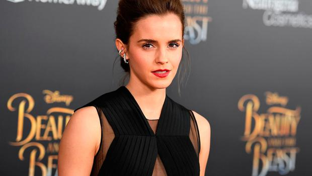 The photos show Emma Watson trying on outfits during a fitting. Photo: Getty