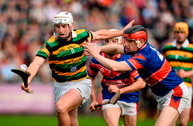 Patrick Horgan of Glen Rovers in action against Jack Sheehan of Erin's Own. Photo by Diarmuid Greene/Sportsfile