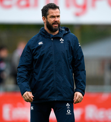 Ireland head coach Andy Farrell (pictured) knows France defence coach Shaun Edwards well from their days playing with Wigan in rugby league. Photo: Sportsfile
