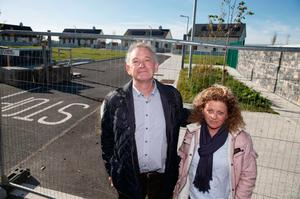 Controversial Presidential campaign Peter Casey has paid a visit to the houses built for Traveller families in Tipperary (Photo: Mark Condren)