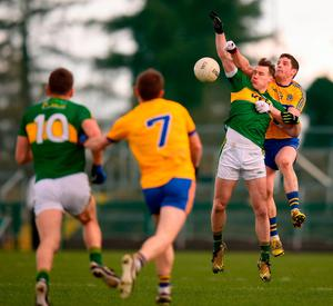 Roscommon's Fintan Cregg in action against Kerry's Mark Griffin. Photo: Stephen McCarthy/Sportsfile