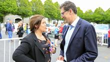 Intense talks: Sinn Féin leader Mary Lou McDonald and Green Party leader Eamon Ryan. Photo: Gerry Mooney